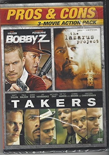 Pros & Cons: 3-Movie Action Pack /  The Lazarus Project /  Takers