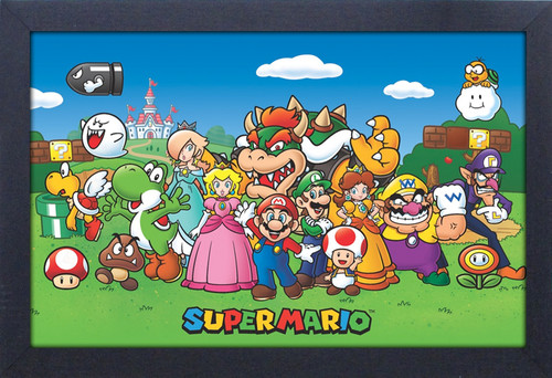 Super Mario Characters 11X17 Framed Gel Coat Print - Super Mario Characters 11x17 Framed Gel Coat Print