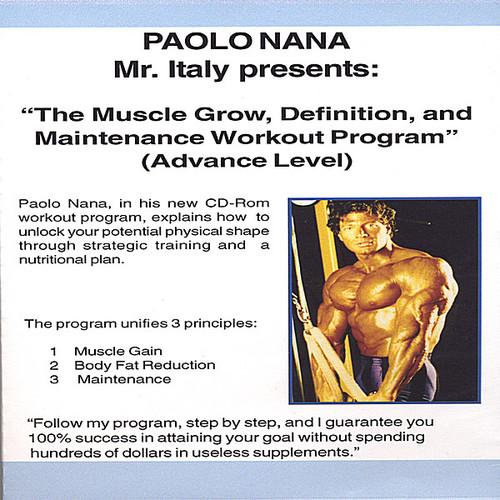 Muscle Grow Definiton & Maintenance Workout Program