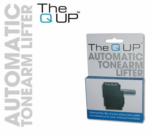 Pahmer Q Up Automatic Tone Arm Lifter Black - Q-Up - The Automatic Tone Arm Lifter for Manual Turntables for Convience and Stylus Protection (Black)