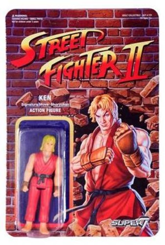 Street Fighter II Reaction Figures - Ken - Super7 - ReAction - Street Fighter II ReAction Figures - Ken