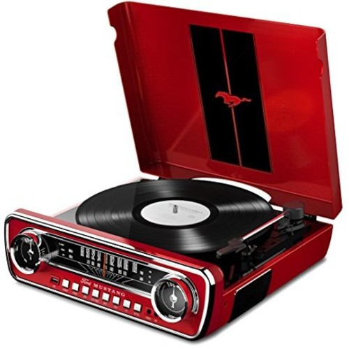 Ion It69 Mustang LP 4in1 Turntable Ent System Red - ION IT69 Mustang Lp 4IN1 Turntable Entertainment Sysytem Red