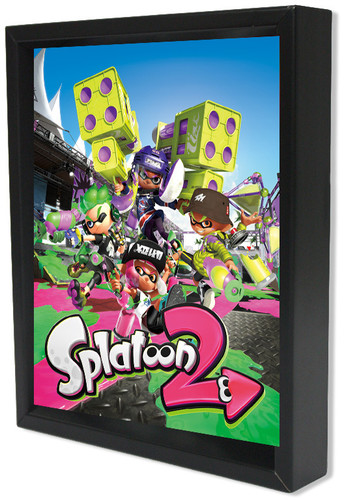 Splatoon 2 Group 8X10 Framed 3D Lenticular - Splatoon 2 Group 8x10 Framed 3D Lenticular