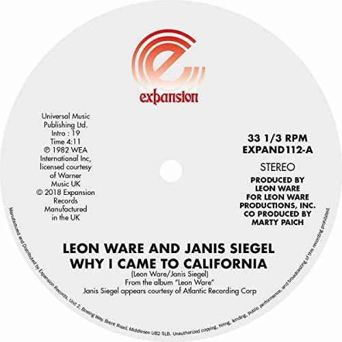 Why I Came To California /  Can I Touch You There [Import]