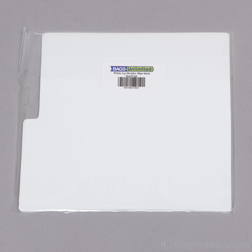 Bu Dlpp405Pk LP Dividers White 40 Gauge 5 Pack - Bags Unlimited DLPP405PK - 12 Inch LP Record Divider Cards - 12 1/8 X 13 1/8 inches - .040 mil Polystyrene - 5 Pack (White)