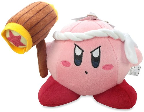 "- Little Buddy Kirby Adventure Kirby 6"" Hammer Plush"