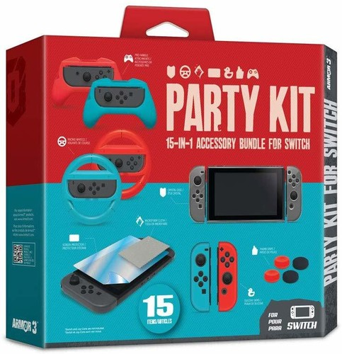 - Armor3 Party Kit for Nintendo Switch