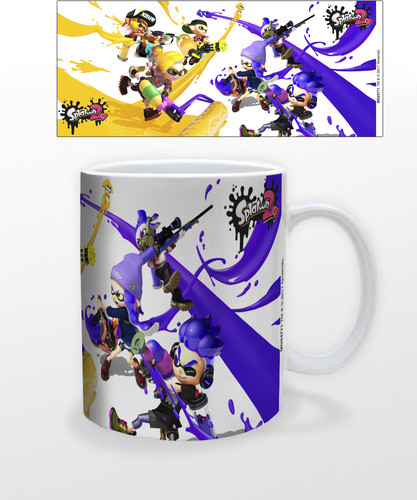 Splatoon 2 Paint Battle 11 Oz Mug - Splatoon 2 Paint Battle 11 oz mug