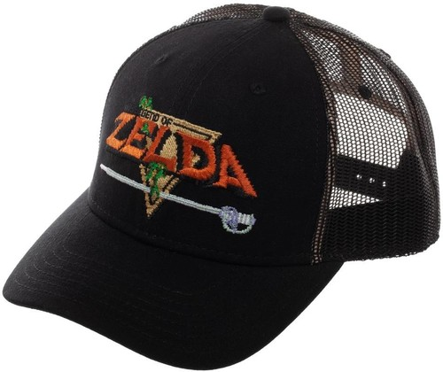 Legend of Zelda Precurved Snapback Trucker Cap - Nintendo The Legend Of Zelda Precurved Snapback Mesh Trucker Cap