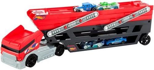 Hot Wheels - Mattel - Hot Wheels Mega Hauler & 4 Cars Set