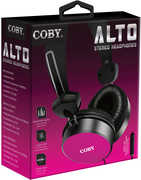 Coby CVH-814-PNK Alto Stereo Headphones W/ Mic