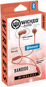 Wicked WIBT2653 Bandido Bluetooth Earbud with Mic Red