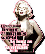Marilyn Quote Funky Chunky Magnet