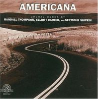 University Of Michigan Symphony Orchestra - Americana: Choral Works of Thompson & Carter / Various