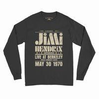 Jimi Hendrix - Jimi Hendrix Experience Live at Berkeley Community Theatre May 30 1970 Concert Poster Black Long Sleeve T-Shirt (3XL)