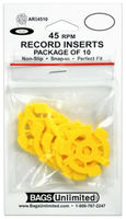 Bu Scd-64 4 Mil Poly CD Sleeve-No Flap-100 Count - Bags Unlimited ARI4510 - 7 Inch 45 RPM Record Inserts Snap In - 10 Count (Yellow)