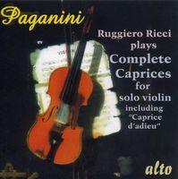RUGGIERO RICCI - Complete Caprices For Solo Violin