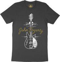 John Fogerty - John Fogerty 1969 Rickenbacker 325 Sunburst CCR ACME Guitar Black Lightweight Vintage Style T-Shirt (Large)