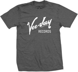 Vee-Jay Records Grey Classic Heavy Cotton T-Shirt (Large)