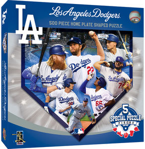 MasterPieces Los Angeles Dodgers 500 Piece Home Plate Shaped Puzzle