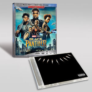 Black Panther Cd Blu-ray Bundle