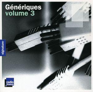 Vol. 3-Generiques [Import]