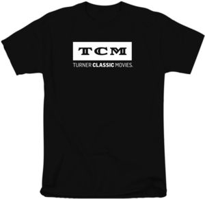 TCM White Logo On Black T-Shirt (Medium)