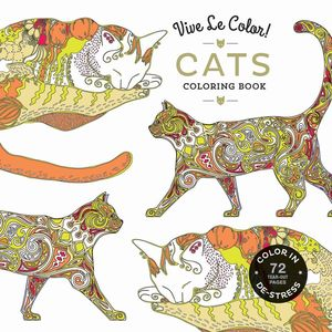 VIVE LE COLOR CATS ADULT COLORING BOOK