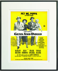 Pet Me Poppa Framed Sheet Music