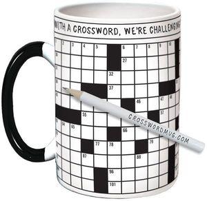 Crossword Puzzle 12 Oz Coffee Mug