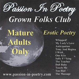 Passion in Poetry/ Grown Folks Club/ Mature Adults O