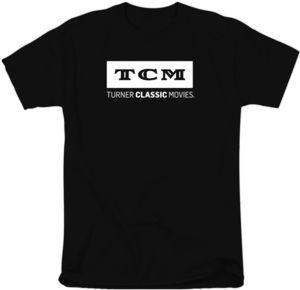 TCM White Logo On Black T-Shirt (Large)