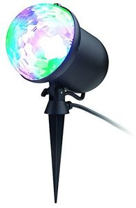 ION Holiday Party Plus IPX4 Indoor/ Outdoor Projected Holiday LED LightBlack