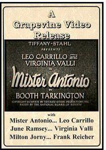 Mister Antonio (1929)