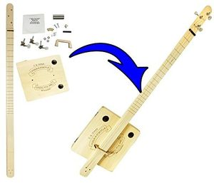 CB Gitty 3600501A Pure & Simple 3 String Fretless Slide Cigar BoxGuitar Kit