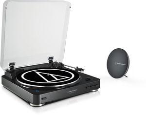 Audio Technica AT-LP60SPBT-BK Bluetooth Turntable with BluetoothSpeaker Bundle Black