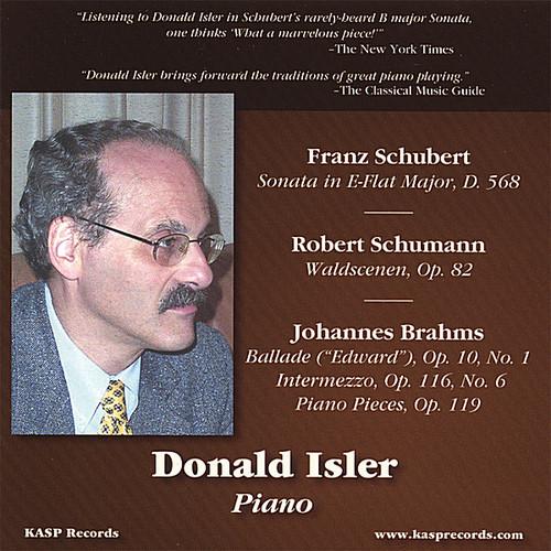 Plays Music of Schubert Schumann & Brahms