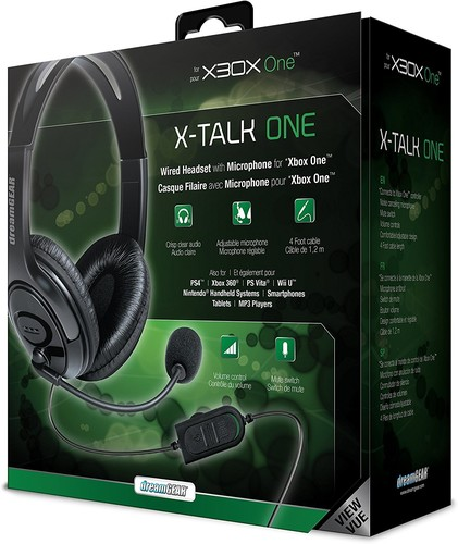 - DreamGear X-Talk Wired Headset: Black for Xbox One
