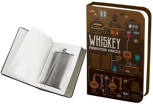 BARBUZZO WHISKEY BOOK FLASK