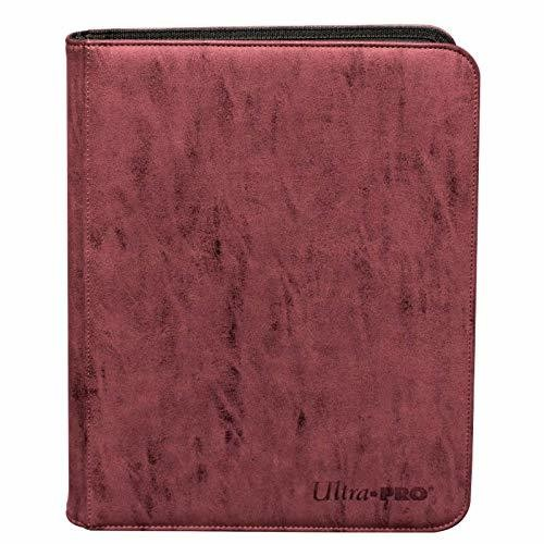 Ultra Pro Suede 9 Pocket Zippered Pro-Binder - Ultra Pro Ruby Suede Collection 9 Pocket Zippered PRO-Binder