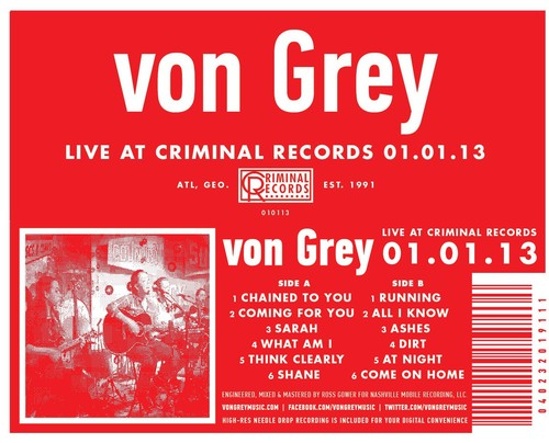 von Grey - Live At Criminal Records 01.01.13
