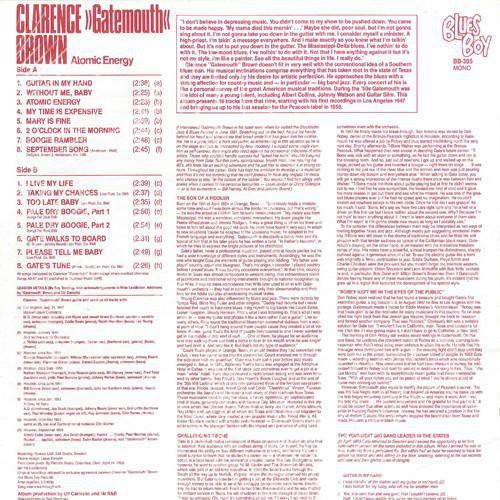 Clarence 'Gatemouth' Brown - Atomic Energy [LP]