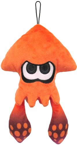 "- Little Buddy Splatoon Inkling Squid 9"" Plush - Orange"