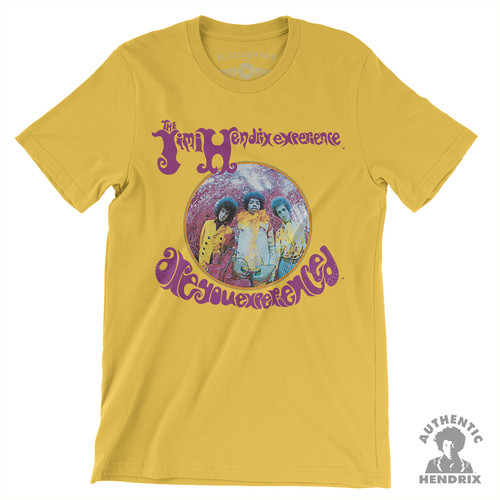 Jimi Hendrix - Jimi Hendrix Experience Are You Experienced Yellow Lightweight Vintage Style T-Shirt (2XL)