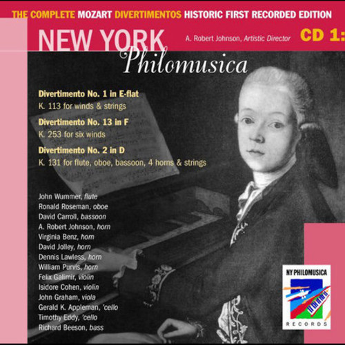 The Complete Mozart Divertimentos Historic First Recorded Edition Cd 1