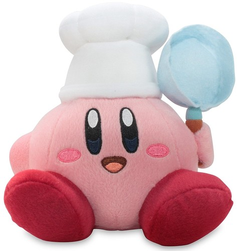 "- Little Buddy Kirby Adventure Kirby 6"" Cook Plush"
