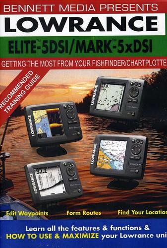LOWRANCE ELITE-5 DSI FISHFINDER /  CHARTPLOTTER MARK-5x DSI