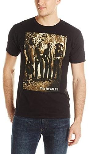 The Beatles - The Beatles Sepia 1969 Last Photo Session Black Unisex Short SleeveT-Shirt 2XL