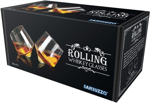 BARBUZZO ROLLING WHISKEY GLASS (SET OF 2)