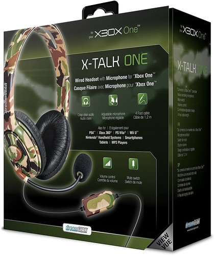 - DreamGear X-Talk Wired Headset: Camo for Xbox One